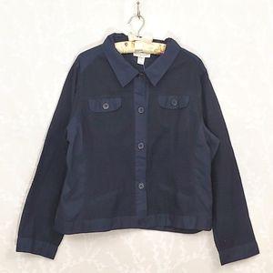 Christopher & Banks Textured Button Down Shirt
